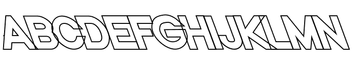 Nordica Classic Black Opposite Oblique Outline  What Font is