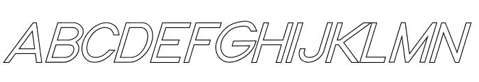 Nordica Classic Light Oblique Outline  What Font is