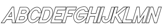 Nordica Classic Regular Condensed Oblique  What Font is