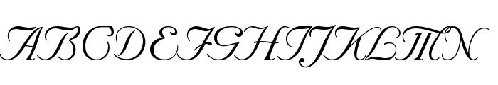 Nuptial BT Font UPPERCASE