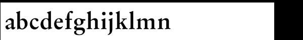 Original Garamond BoldMultilingual Font LOWERCASE