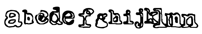 Outwrite Font LOWERCASE