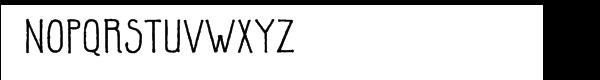 Parrish™ Hand Font LOWERCASE