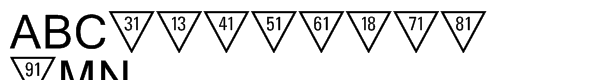 PIXymbols Triangle Alpha & Numeric Triangle Num  What Font is