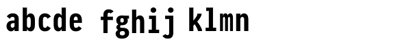 Pragmata Pro Bold Font LOWERCASE