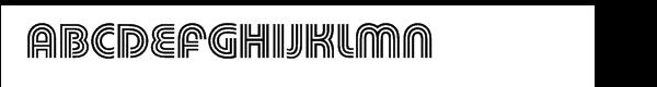 Pump™ Triline Font UPPERCASE