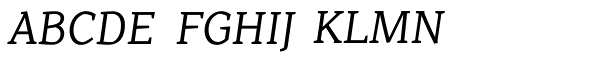 Range Serif Italic  What Font is