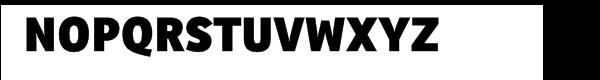 Ronnia Heavy Font UPPERCASE