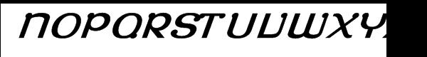 Roppongi Normal Oblique Font UPPERCASE