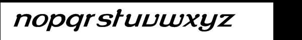Roppongi Normal Oblique Font LOWERCASE