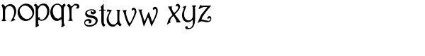 Rossetti Font LOWERCASE