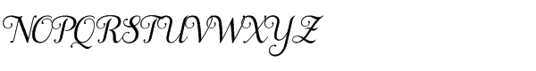 Samantha Script Std Italic Basic Font UPPERCASE