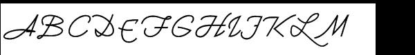 Saxony Script Script  What Font is