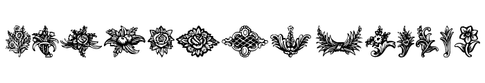 Schluss-Vignetten  What Font is