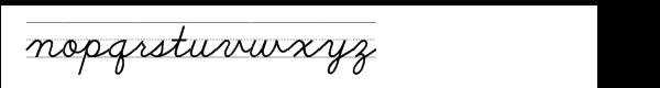 School Script Dashed Font LOWERCASE