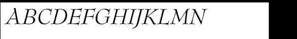 SG Bernhard Modern SB Std Italic  What Font is