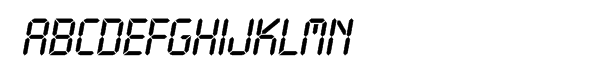 SG LCD SH Italic les polices de caractères gratuit t�l�charger