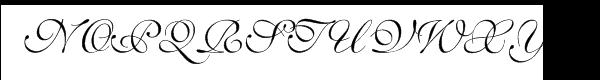 Shelley™ Volante Script Font UPPERCASE