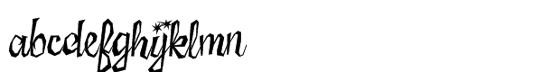 Sister Frisky Std Regular Font LOWERCASE