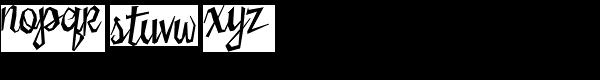 Sister Frisky Font LOWERCASE