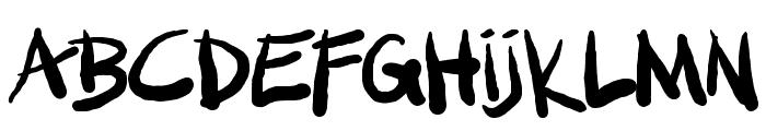 SML FAT MARKER Font UPPERCASE