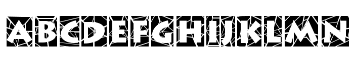 Spider Web Block Normal Font UPPERCASE
