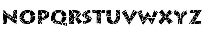 Spider Web Block Normal Font LOWERCASE