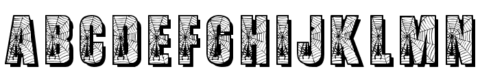 Spiderman Font UPPERCASE