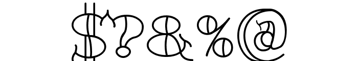 TattooLetteringOpen Font OTHER CHARS