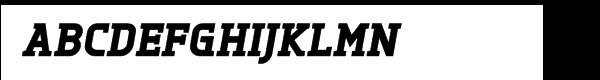 Tertre Black Italic™ Font UPPERCASE