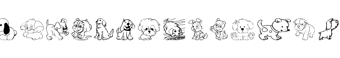 tender puppies  What Font is