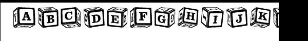 Toy Box Blocks Font UPPERCASE