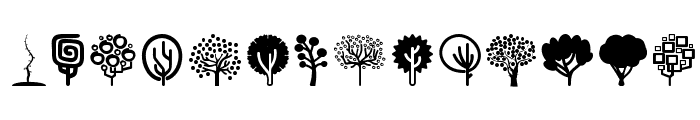 Trees Go 2  What Font is