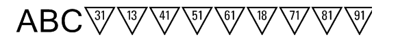 Triangle Numeric Font UPPERCASE