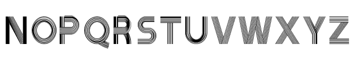 Tribbon B Font UPPERCASE