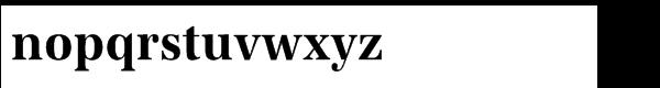URW Antiqua Std Bold Extra Narrow Font LOWERCASE