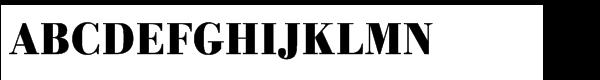 URW Bodoni Std Bold Extra Narrow  What Font is