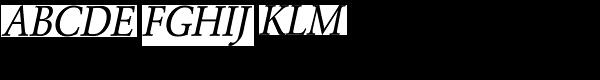URW Garamond Extra Narrow Regular Oblique Font UPPERCASE