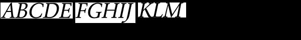 URW Garamond Narrow Regular Oblique  What Font is