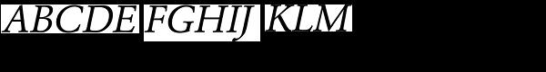 URW Garamond Regular Oblique  What Font is
