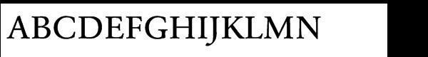 URW Garamond Std Medium Wide  What Font is