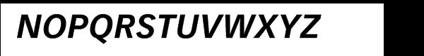 Vectora™ 76 Bold Italic Font UPPERCASE