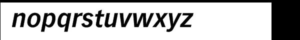 Vectora™ 76 Bold Italic Font LOWERCASE