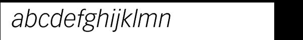 "Vectoraâ""¢ Com 46 Light Italic Font LOWERCASE"