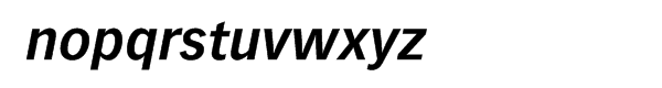 "Vectoraâ""¢ Com 76 Bold Italic Font LOWERCASE"
