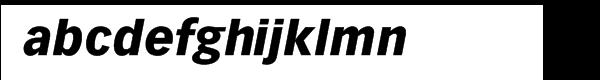 Vectora™ Com 96 Black Italic Font LOWERCASE