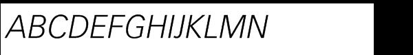 Vectora® Std 46 Light Italic  What Font is