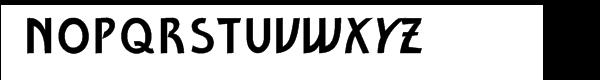 Ventoux Plain Font UPPERCASE