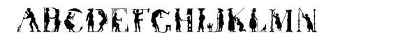 Victorian™ Silhouette  What Font is