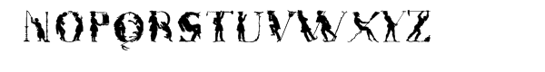 Victorian™ Silhouette Font UPPERCASE